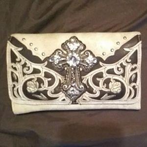 Bling cross wallet clutch